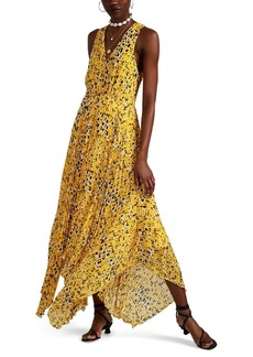 Derek Lam 10 Crosby Women's Abstract-Dot-Print Pleated Dress