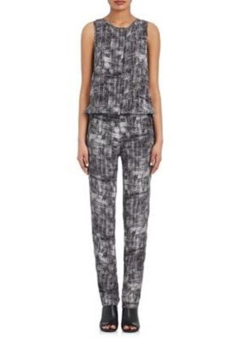 Derek Lam 10 Crosby Women's Abstract-Print Silk Sleeveless Jumpsuit
