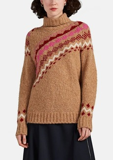 Derek Lam 10 Crosby Women's Asymmetric Fair Isle Turtleneck Sweater