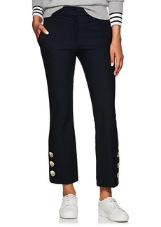 Derek Lam 10 Crosby Women's Button-Hem Cotton Crop Flared Pants