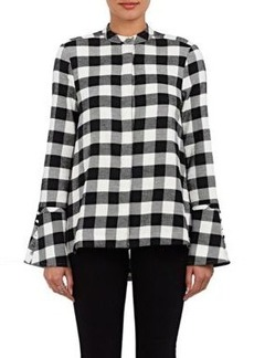 Derek Lam 10 Crosby Women's Checked Cotton Flannel Blouse