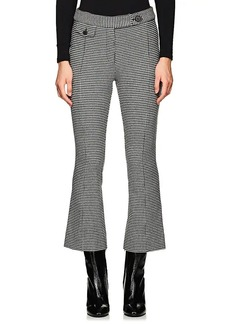 Derek Lam 10 Crosby Women's Checked Cotton Flannel Crop Flared Pants