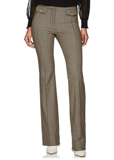 Derek Lam 10 Crosby Women's Checked Wool-Blend Flannel Crop Flared Pants
