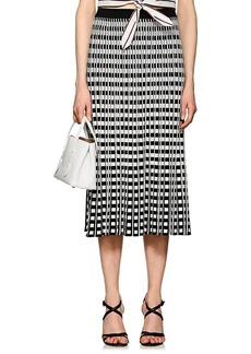 Derek Lam 10 Crosby Women's Checkerboard Pleated Midi-Skirt