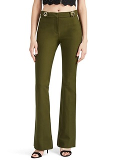 Derek Lam 10 Crosby Women's Clasp-Detailed Cotton Twill Slim Flared Trousers
