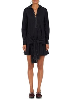 Derek Lam 10 Crosby Women's Cotton Poplin Flared Shirtdress