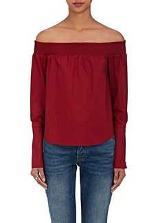 Derek Lam 10 Crosby Women's Cotton Poplin Off-The-Shoulder Blouse