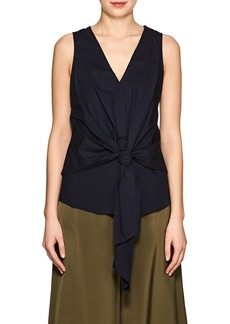 Derek Lam 10 Crosby Women's Cotton Poplin Tie-Front Top