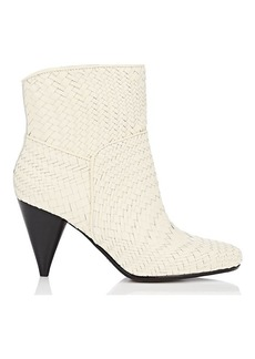 Derek Lam 10 Crosby Women's Dannie Basket-Weave Leather Ankle Boots