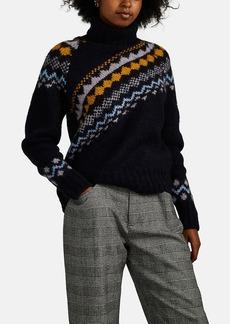 Derek Lam 10 Crosby Women's Diagonal Fair Isle Wool-Blend Turtleneck Sweater
