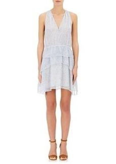Derek Lam 10 Crosby Women's Dot-Print Silk Sleeveless Dress