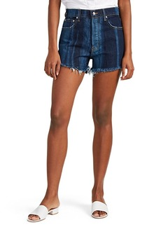 Derek Lam 10 Crosby Women's Drew Shadow Stripe Denim Cutoff Shorts