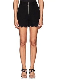 Derek Lam 10 Crosby Women's Eyelet-Detailed Cotton-Blend High-Waist Shorts