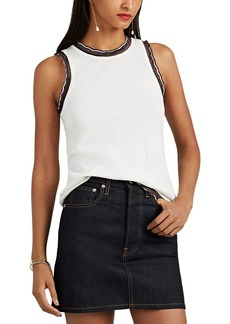 Derek Lam 10 Crosby Women's Fine-Gauge Knit Silk-Blend Tank
