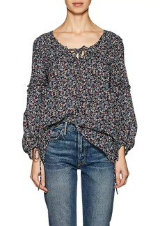 Derek Lam 10 Crosby Women's Floral Cotton Cady Swing Blouse