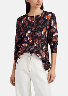 Derek Lam 10 Crosby Women's Floral Cotton-Silk Faille Blouse