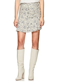 Derek Lam 10 Crosby Women's Floral Ruched Cotton Crepe Skirt