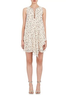 Derek Lam 10 Crosby Women's Floral Silk Chiffon Lace-Up Dress