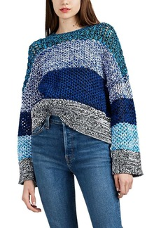 Derek Lam 10 Crosby Women's Gradient Mélange Cotton-Blend Sweater