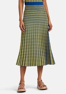 Derek Lam 10 Crosby Women's Graphic-Gingham Jacquard Midi-Skirt