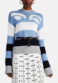 Derek Lam 10 Crosby Women's Graphic Striped Cotton-Blend Sweater