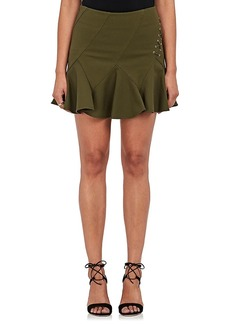 Derek Lam 10 Crosby Women's Lace-Up Stretch-Cotton Flared Miniskirt