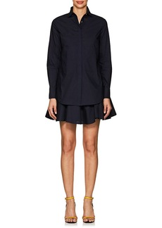 Derek Lam 10 Crosby Women's Layered Cotton Poplin 2-In-1 Long-Sleeve Shirtdress