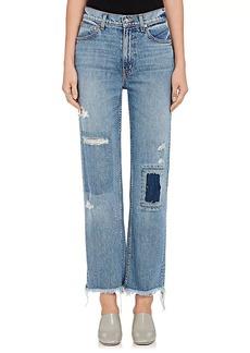 Derek Lam 10 Crosby Women's Leah Patchwork Straight Jeans