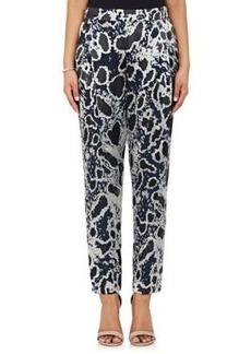 Derek Lam 10 Crosby Women's Leopard Burnout Georgette Pants