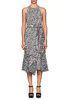 Derek Lam 10 Crosby Women's Leopard-Print Crepe Midi-Dress