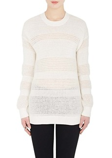 Derek Lam 10 Crosby Women's Mixed-Knit Cotton-Blend Sweater