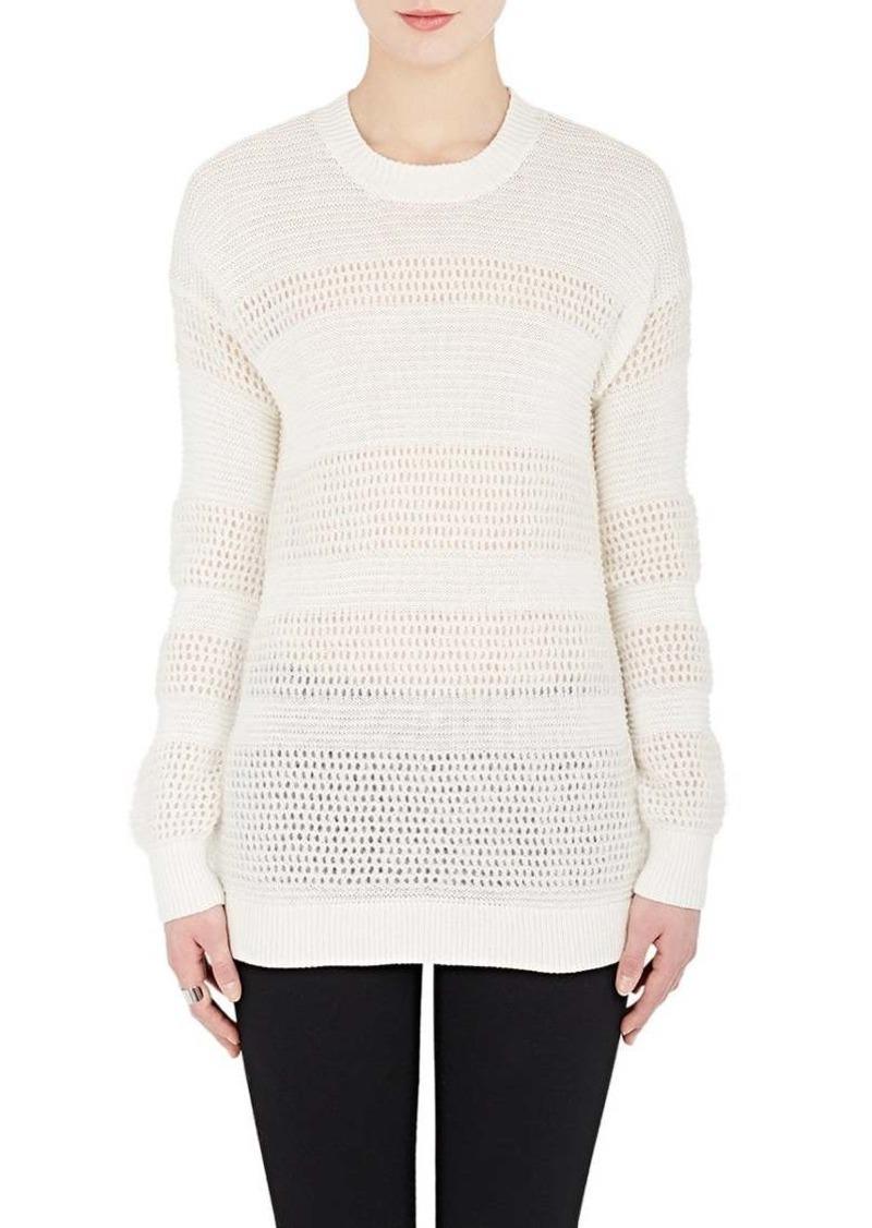 Derek Lam 10 Crosby Women's Mixed-Knit Cotton-Blend Sweater