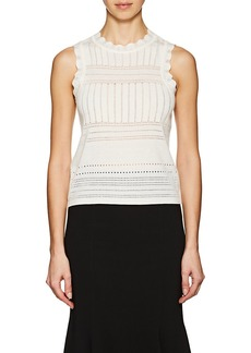 Derek Lam 10 Crosby Women's Pointelle-Stitched Wool-Blend Top