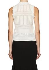 Derek Lam 10 Crosby Women's Pointelle-Stitched Wool-Blend Top