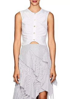 Derek Lam 10 Crosby Women's Ruched Cotton Crop Top