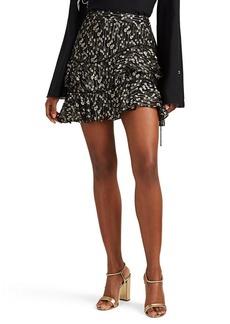 Derek Lam 10 Crosby Women's Silk-Blend Tiered Ruffle Skirt