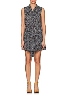 Derek Lam 10 Crosby Women's Sleeve-Detailed Floral Cotton Cady Dress