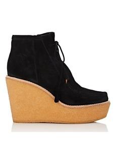 Derek Lam 10 Crosby Women's Sorelle Suede Platform-Wedge Ankle Boots
