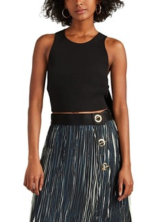Derek Lam 10 Crosby Women's Strap-Back Crepe Crop Top