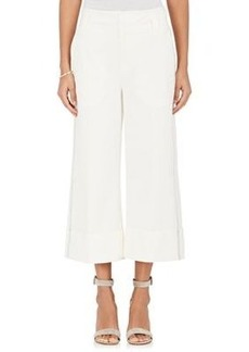 Derek Lam 10 Crosby Women's Stretch-Cotton Cuffed Wide-Leg Culottes
