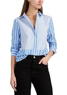 Derek Lam 10 Crosby Women's Striped Cotton Poplin Shirt