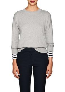 Derek Lam 10 Crosby Women's Striped-Cuff Cotton-Cashmere Sweater