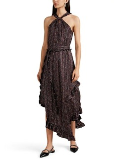 Derek Lam 10 Crosby Women's Striped Floral Crepe Halter Dress