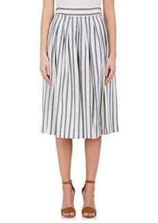 Derek Lam 10 Crosby Women's Striped Linen-Cotton Full Midi-Skirt