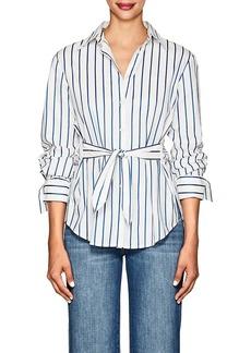 Derek Lam 10 Crosby Women's Striped Self-Tie Cotton Blouse