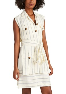 Derek Lam 10 Crosby Women's Striped Silky Twill Utility Dress