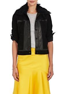 Derek Lam 10 Crosby Women's Toby Shearling-Trimmed Suede Jacket