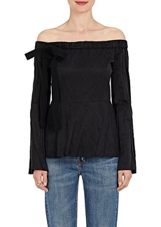 Derek Lam 10 Crosby Women's Washed Crepe Off-The-Shoulder Top
