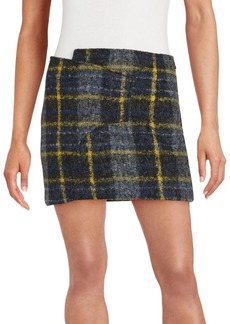 Derek Lam Wool Blend Wrap Skirt
