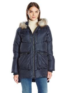 Derek Lam 10C Women's Faux Fur Trim Parka  M